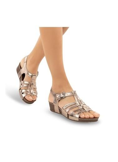Muya Diamond Anatomik Kadın Sandalet Gri
